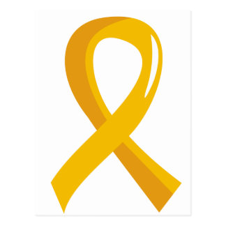 Childhood Cancer Gold Ribbon 3 Postcard