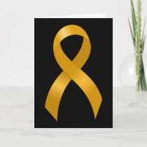 Childhood Cancer Gold Ribbon Card