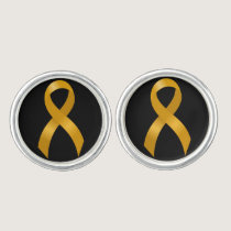 Childhood Cancer Gold Ribbon Cufflinks