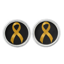 Childhood Cancer Gold Ribbon Cufflinks