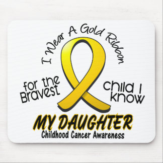 Childhood Cancer Gold Ribbon For My Daughter Mouse Pad