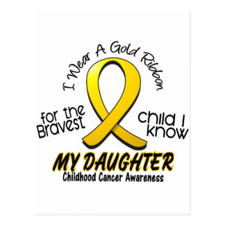 Childhood Cancer Gold Ribbon For My Daughter Postcard