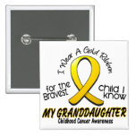 Childhood Cancer Gold Ribbon For My Granddaughter Pins