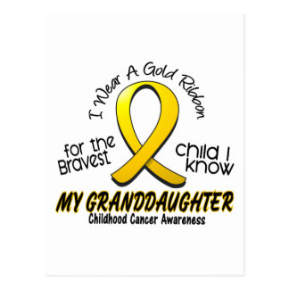 Childhood Cancer Gold Ribbon For My Granddaughter Postcard