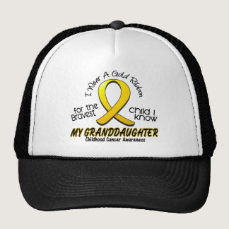 Childhood Cancer Gold Ribbon For My Granddaughter Trucker Hat
