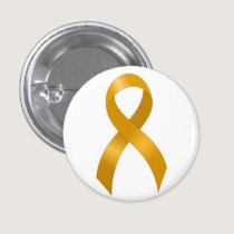 Childhood Cancer Gold Ribbon Pinback Button