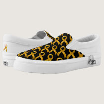 Childhood Cancer Gold Ribbon Slip-On Sneakers