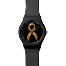 Childhood Cancer Gold Ribbon Wristwatch