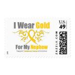 CHILDHOOD CANCER Gold Tribal Ribon Nephew Postage Stamp
