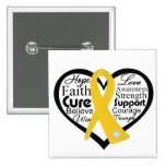 Childhood Cancer Heart Ribbon Collage Pin