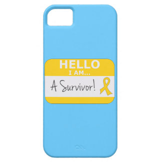 Childhood Cancer Hello I Am A Survivor iPhone 5 Case