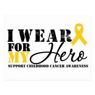 Childhood Cancer Hero Ribbon Postcard