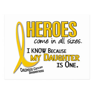 Childhood Cancer Heroes All Sizes 1 Daughter Postcard