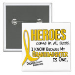 Childhood Cancer Heroes All Sizes 1 Granddaughter Pin