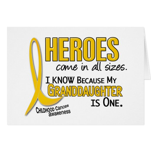 Childhood Cancer Heroes All Sizes 1 Granddaughter Greeting Card