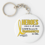 Childhood Cancer Heroes All Sizes 1 Granddaughter Keychain