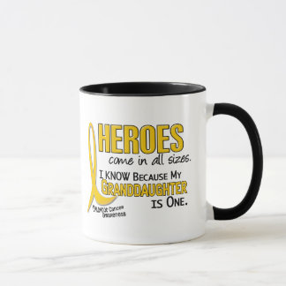 Childhood Cancer Heroes All Sizes 1 Granddaughter Mug