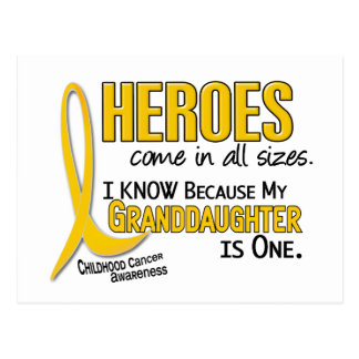 Childhood Cancer Heroes All Sizes 1 Granddaughter Postcard