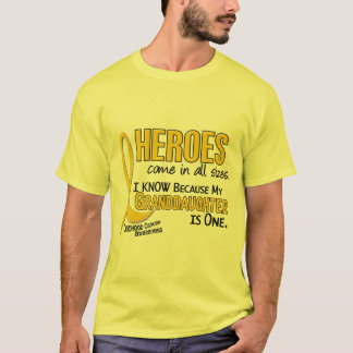Childhood Cancer Heroes All Sizes 1 Granddaughter T-Shirt