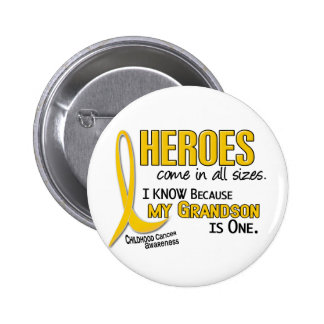 Childhood Cancer Heroes All Sizes 1 Grandson Button
