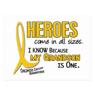 Childhood Cancer Heroes All Sizes 1 Grandson Postcard