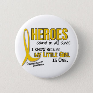 Childhood Cancer Heroes All Sizes 1 Little Girl Button