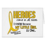 Childhood Cancer Heroes All Sizes 1 Little Girl Cards