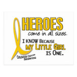 Childhood Cancer Heroes All Sizes 1 Little Girl Post Card