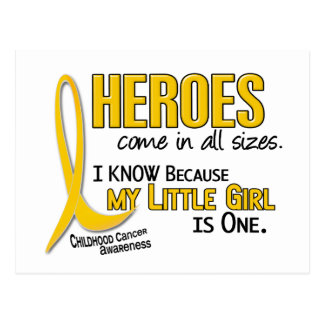 Childhood Cancer Heroes All Sizes 1 Little Girl Postcard