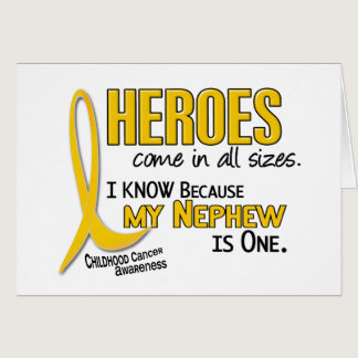 Childhood Cancer Heroes All Sizes 1 Nephew Card