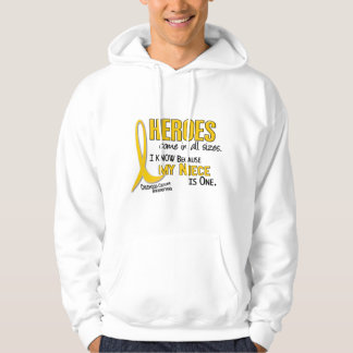Childhood Cancer Heroes All Sizes 1 Niece Hooded Pullover