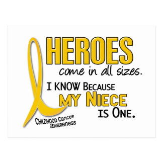 Childhood Cancer Heroes All Sizes 1 Niece Postcard
