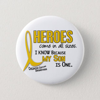 Childhood Cancer Heroes All Sizes 1 Son Pinback Button