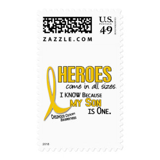 Childhood Cancer Heroes All Sizes 1 Son Postage Stamps