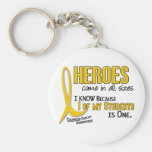 Childhood Cancer Heroes All Sizes 1 Student Keychain