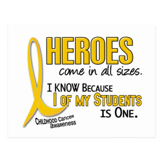 Childhood Cancer Heroes All Sizes 1 Student Postcard