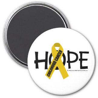 Childhood Cancer Hope 3 Inch Round Magnet