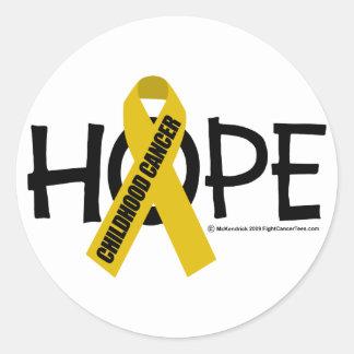 Childhood Cancer Hope Classic Round Sticker