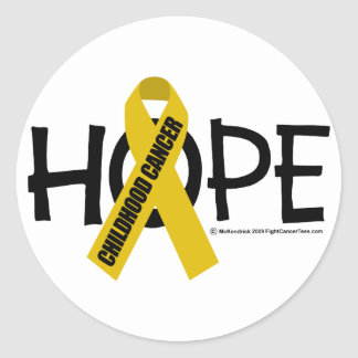 Childhood Cancer Hope Classic Round Sticker