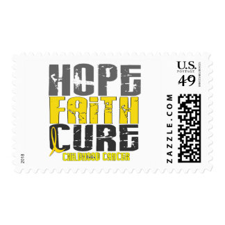 Childhood Cancer HOPE FAITH CURE Postage