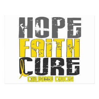 Childhood Cancer HOPE FAITH CURE Postcard