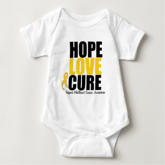 Childhood Cancer Hope Love Cure Baby Bodysuit