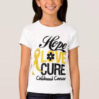 Childhood Cancer Hope Love Cure T-Shirt