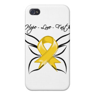 Childhood Cancer Hope Love Faith Case For iPhone 4