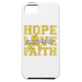 Childhood Cancer Hope Love Faith Survivor iPhone 5 Cover