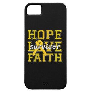 Childhood Cancer Hope Love Faith Survivor iPhone 5 Case