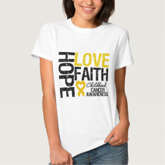 Childhood Cancer Hope Love Faith T-Shirt