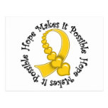 Childhood Cancer -  Hope Makes It Possible Post Card