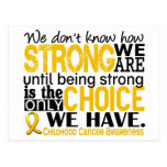 Childhood Cancer How Strong We Are Post Cards