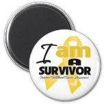 Childhood Cancer - I am a Survivor Fridge Magnet